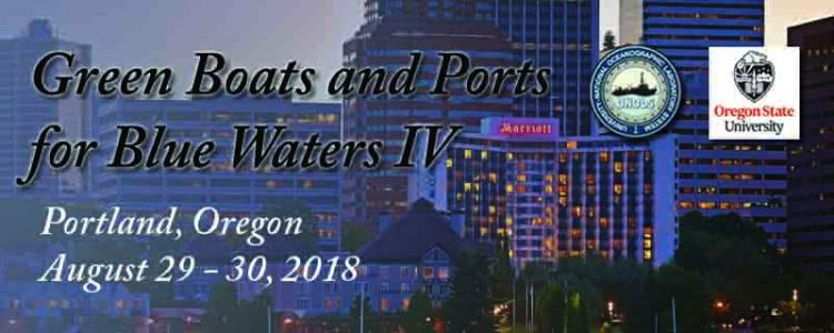 green Boats and Ports Banner - Dates August 29 to August 30, Portland Oregonn
